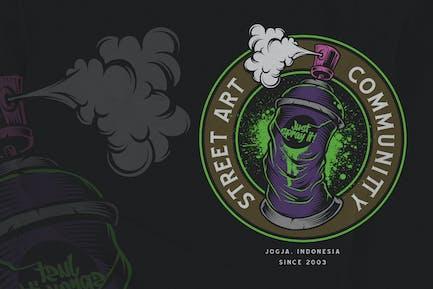Sprühfarbe - Graffiti-Emblem
