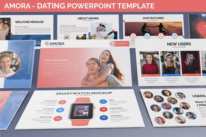 Thumbnail for Amora - Dating Powerpoint Template