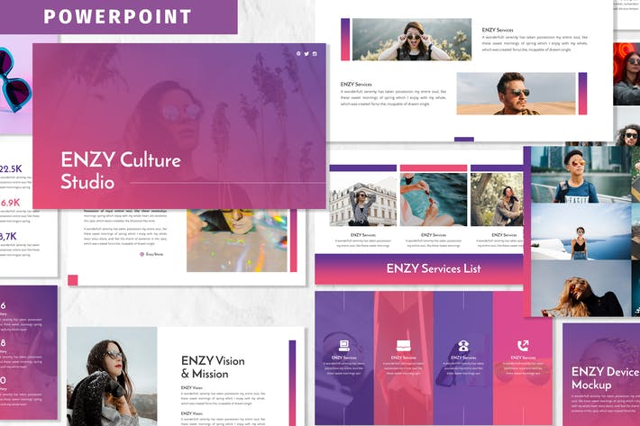 Thumbnail for Enzy - Business Powerpoint Template