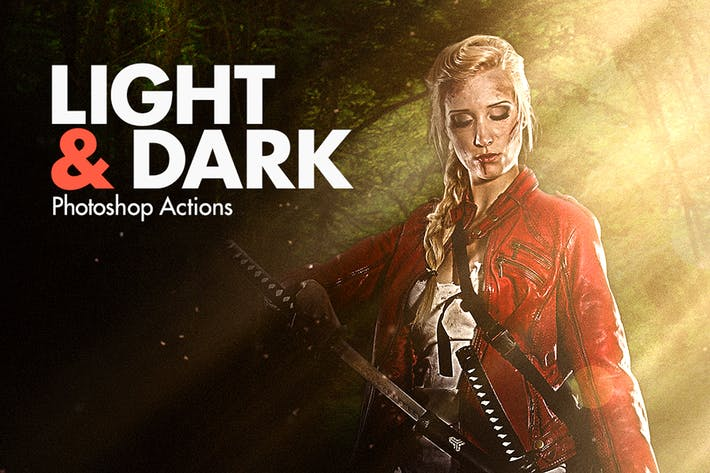 Cover Image For Light & Dark - Photoshop Actions