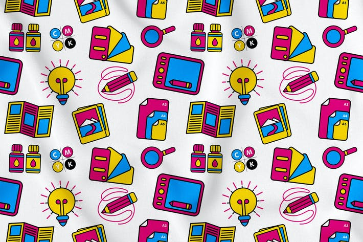 Thumbnail for Graphic Design Seamless Pattern Vol. 1