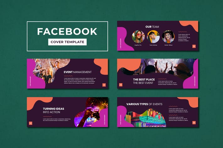 Thumbnail for Facebook Cover Template Event Management