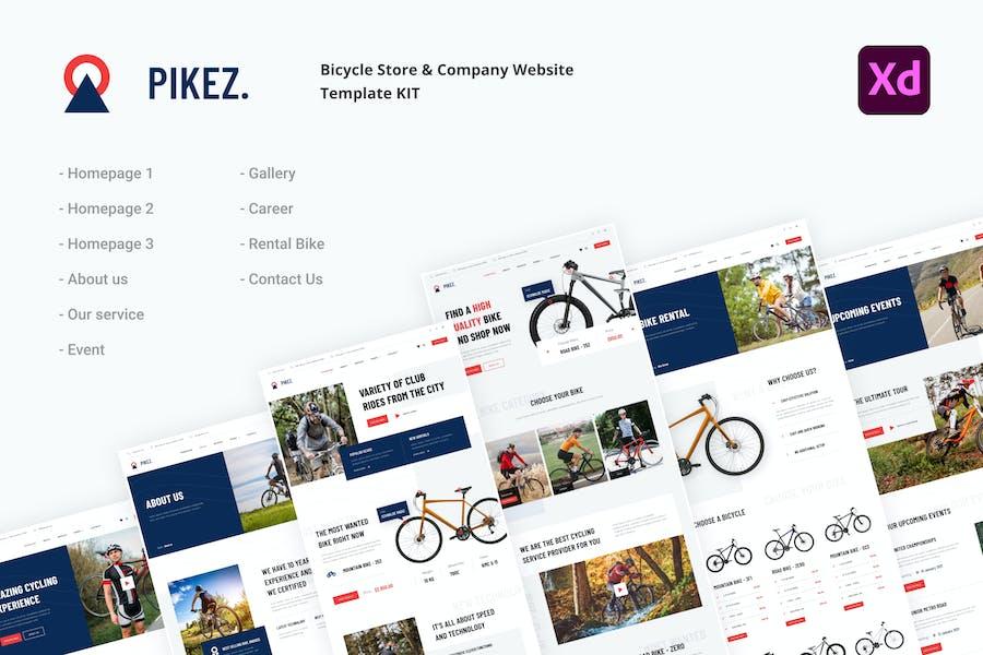 Pikez - Bicycle Store & Company Website UI kit