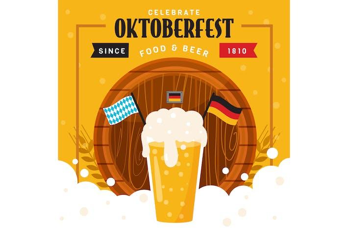 Thumbnail for Oktoberfest Beer Illustration