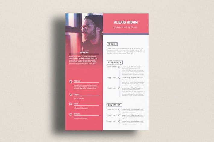 Thumbnail for Digital Marketing Template CV Resume