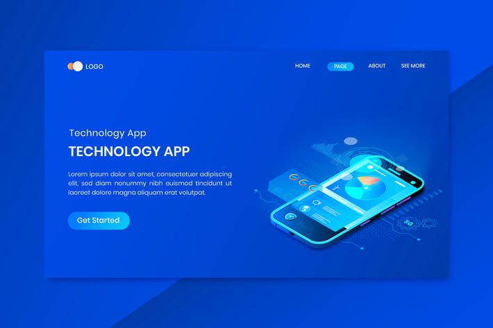 Thumbnail for Technology Applications  Isometric Concept Landing