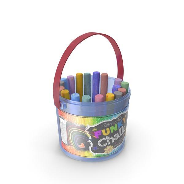 Coloured Chalk Bucket