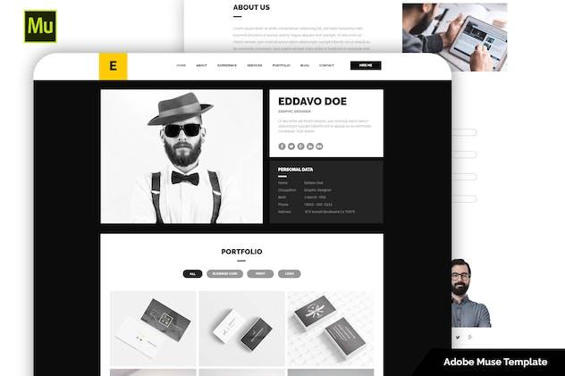 Eddavo - Portfolio and Resume Muse Template