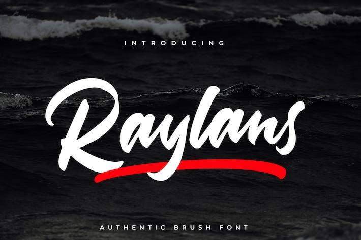 Thumbnail for Raylans Brush Font