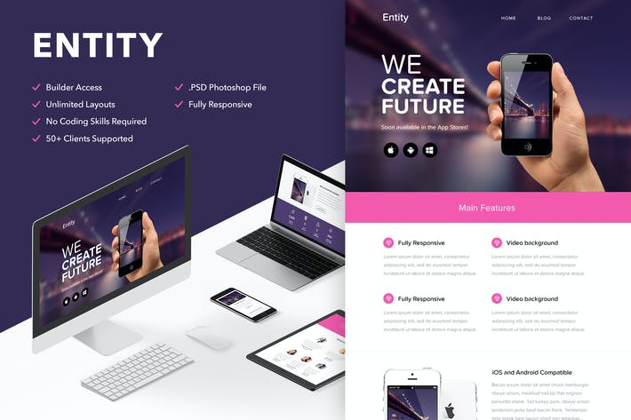 Cover Image For Entity - Responsive Email + Themebuilder Access