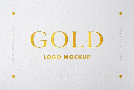 Goldfolie Logo Mockup