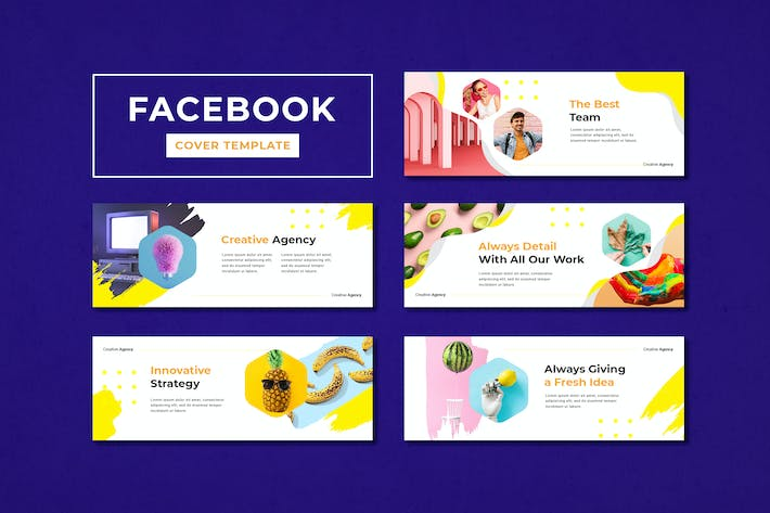 Thumbnail for Facebook Cover Template Creative Agency