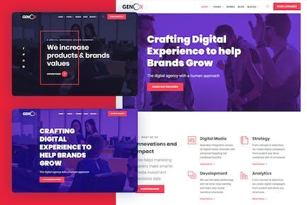 Genox - Creative & Digital Web Agency Template