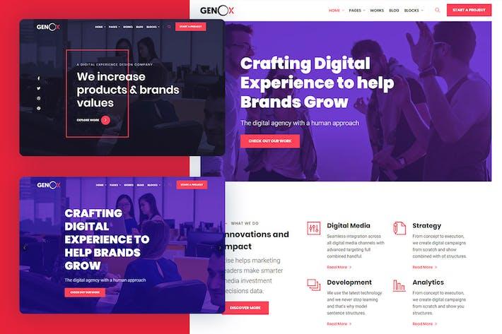 Thumbnail for Genox - Creative & Digital Web Agency Template