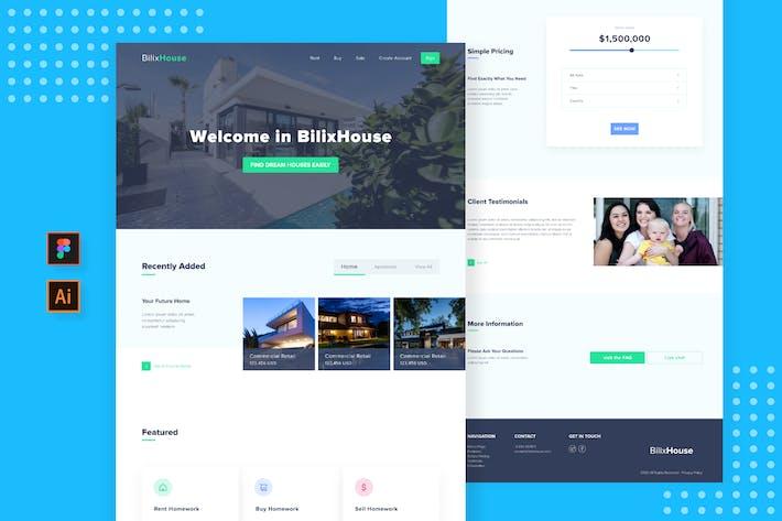 Thumbnail for Sanstemp - Minimalist Landing Page