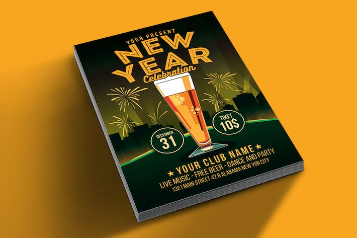 Cover Image For New Year Celebration Beer Party