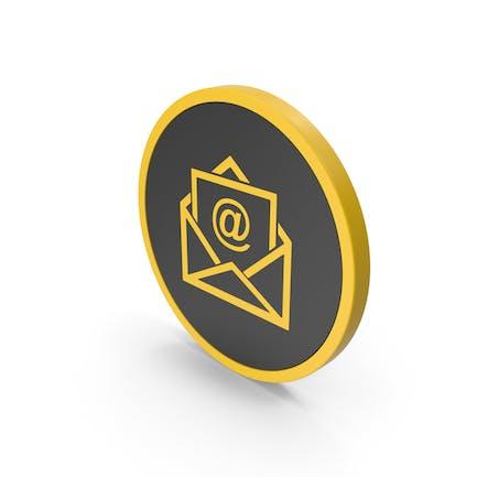 Icon Email Envelope Yellow