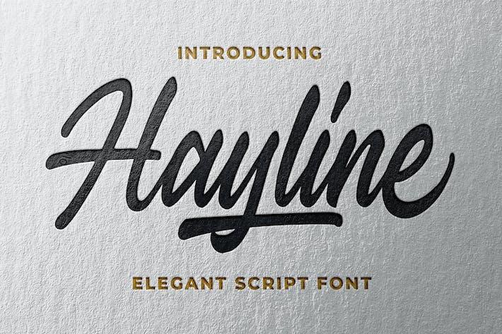 Thumbnail for Hayline - Fuente de escritura elegante
