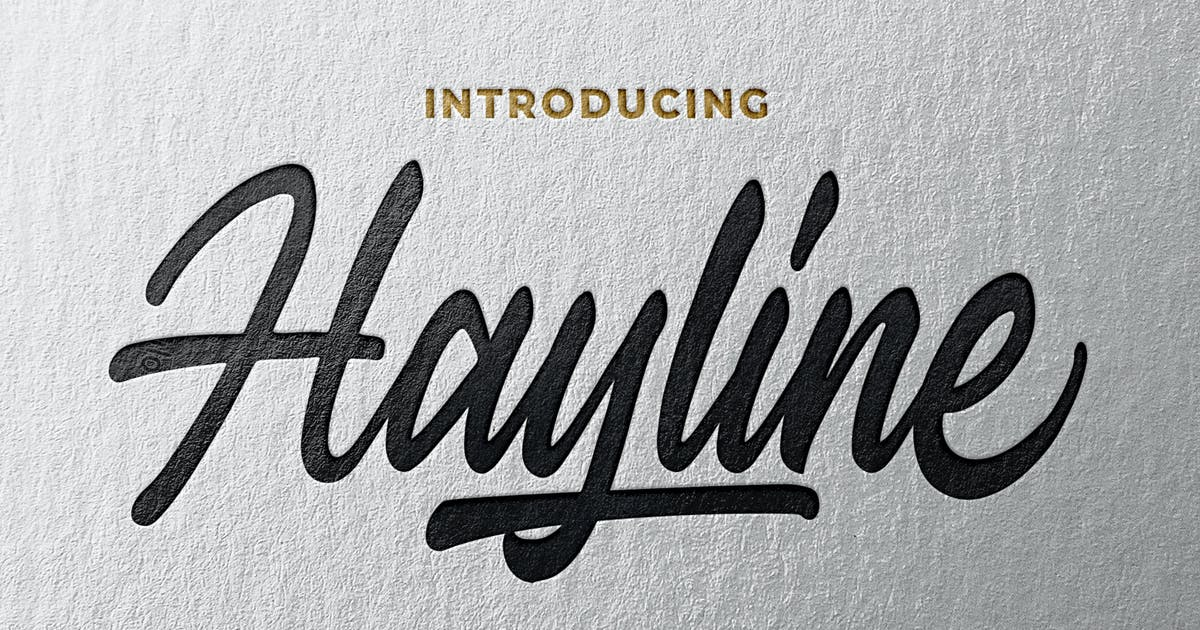 Download Hayline - Elegant Script Font by Blankids
