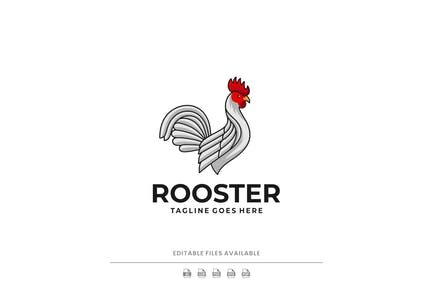 Rooster Simple Mascot Logo