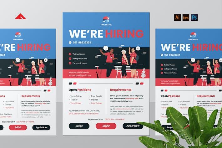 Thumbnail for Travel Job Hiring Flyer Advertisement