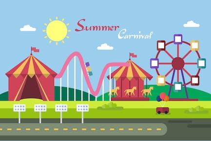 Summer Carnival - Illustration Background