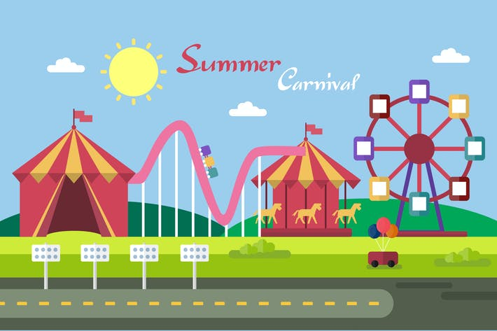 Thumbnail for Summer Carnival - Illustration Background
