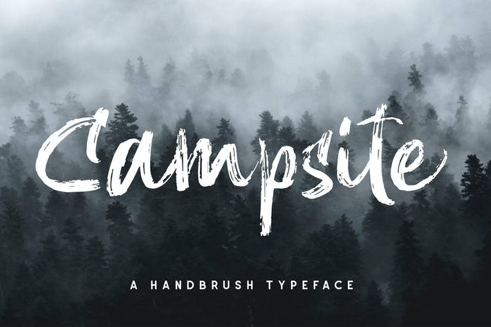 Thumbnail for Campsite - Handbrush Font