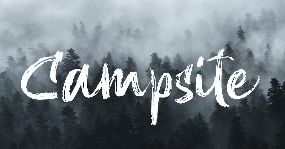 Download Campsite - Handbrush Font by naulicrea