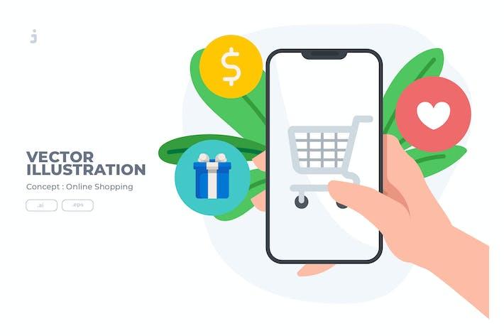 Thumbnail for Online Shopping - Vector Illustration