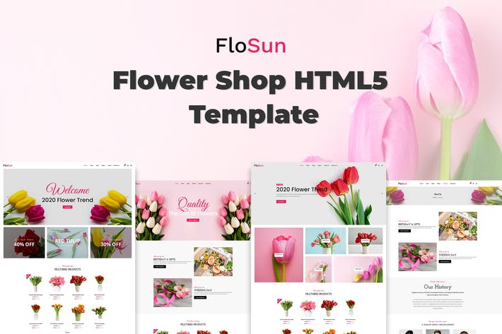 Thumbnail for FloSun - Flower Shop HTML5 Template