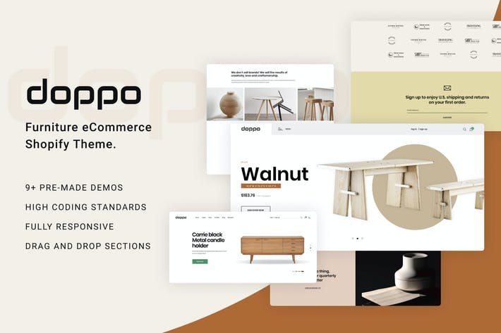 Doppo - Muebles Multipropósito Shopify Tema