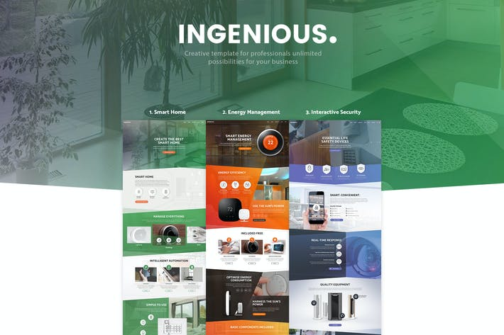 Thumbnail for Ingenious - Smart Home Automation HTML Template