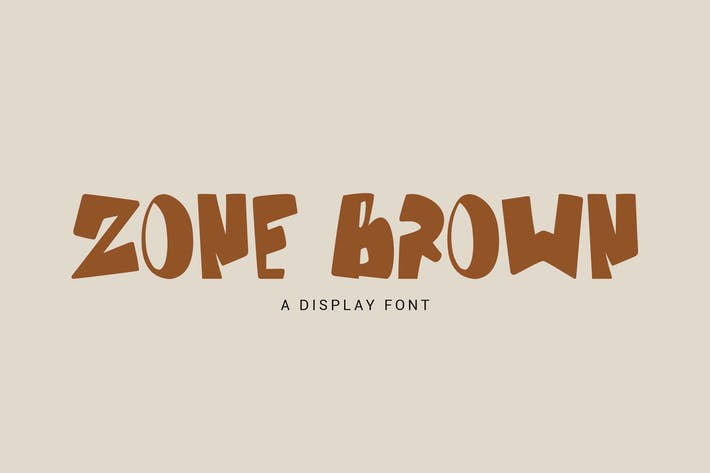 Thumbnail for Zone Brown - Bold Display Font GL