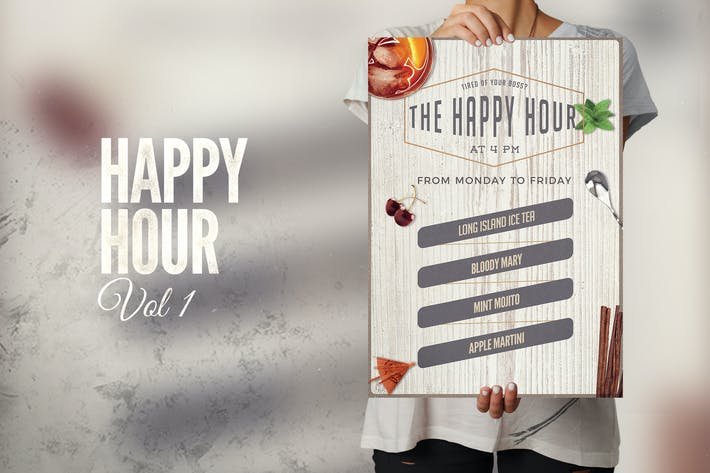 Thumbnail for Happy Hour Flyer Poster