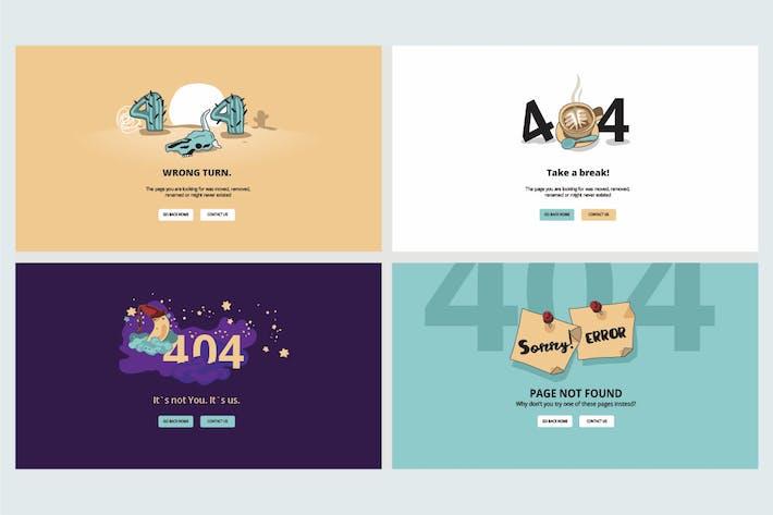 Набор плоских конструкций для страницы ошибок 404