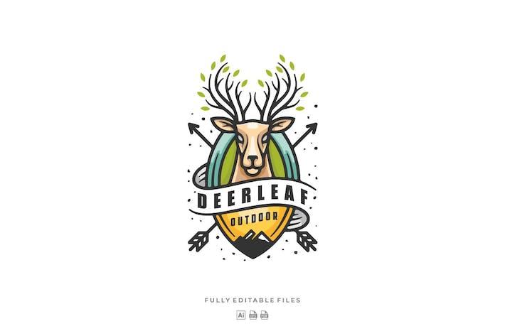 Thumbnail for Deer Leaves Badge Logo