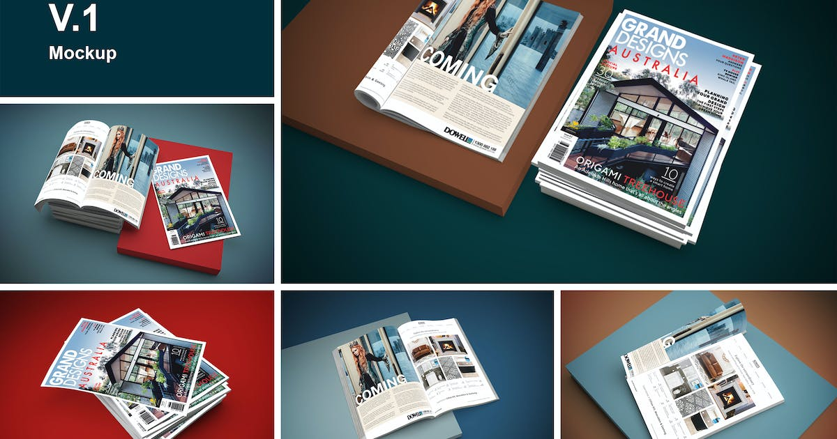 Download Magazine Mockup V.1 by QalebStudio