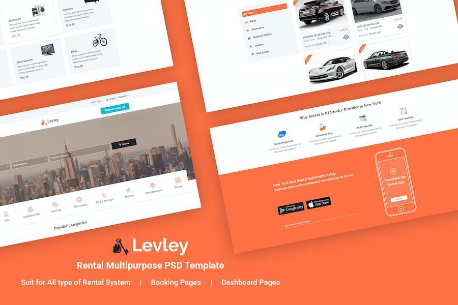 Levley - Rental Multipurpose PSD Template