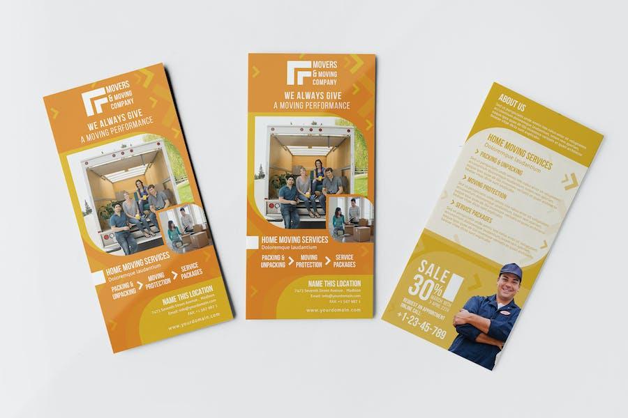 Moving Company / Rackcardand Postcard Template