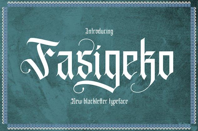 Fasigeko - Blackletter Font
