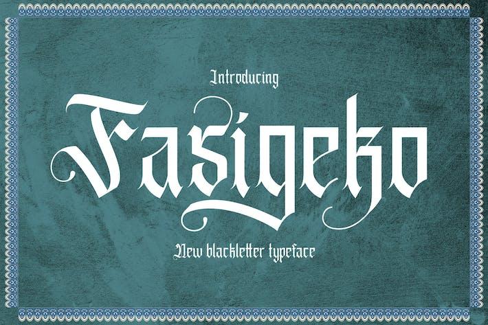 Thumbnail for Fasigeko - Fuente de letra negra
