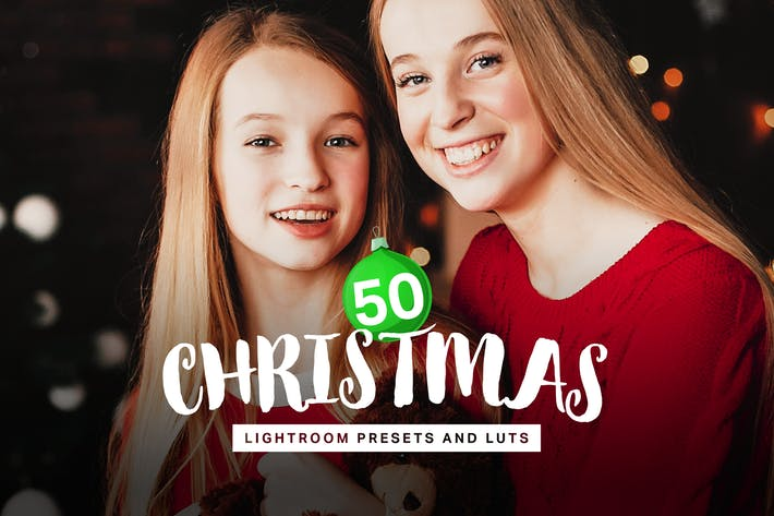 Thumbnail for 50 Christmas Lightroom Presets LUTs