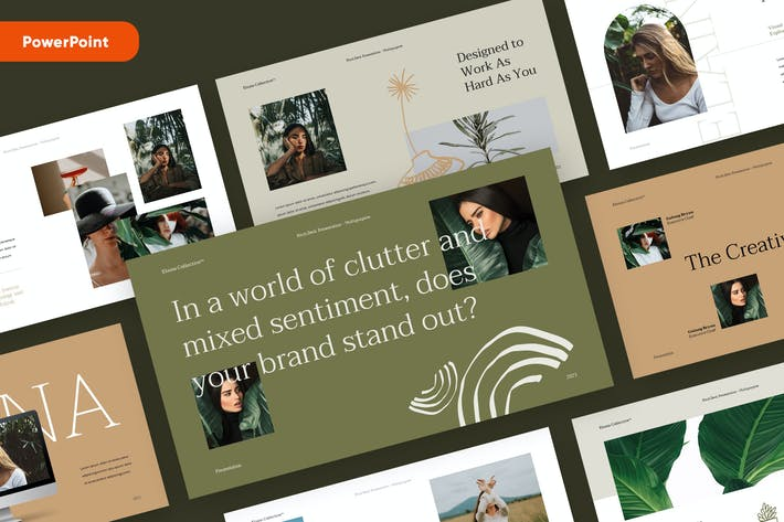 Thumbnail for ELAINA - Stylish Fashion Powerpoint Template