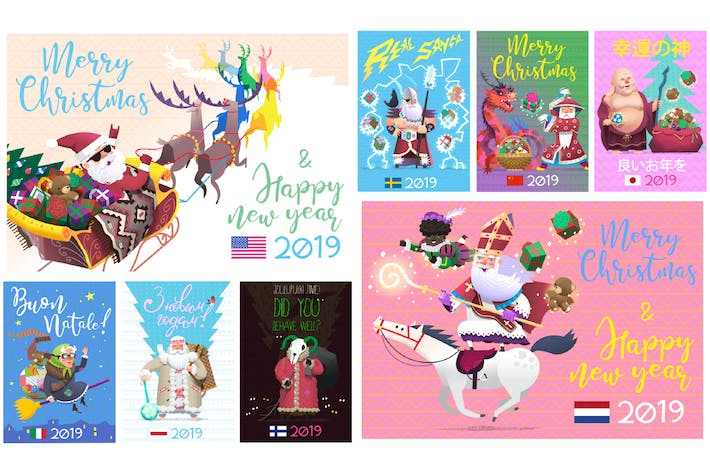 Cover Image For Winter Holiday Characters
