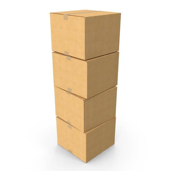Картонная коробка стек