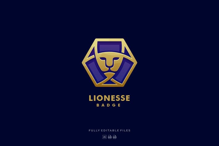 Thumbnail for Lion Luxury Badge Logo