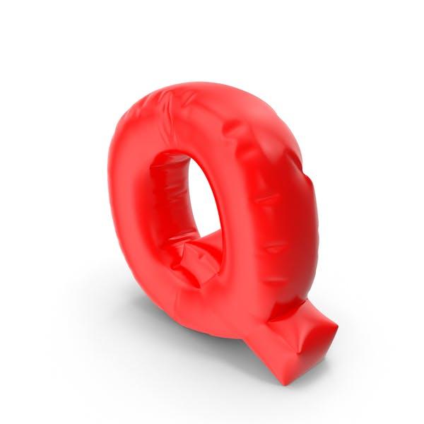 Ballonbuchstabe Q