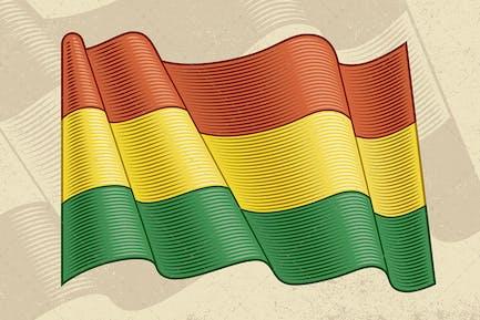 Vintage Flag Of Bolivia
