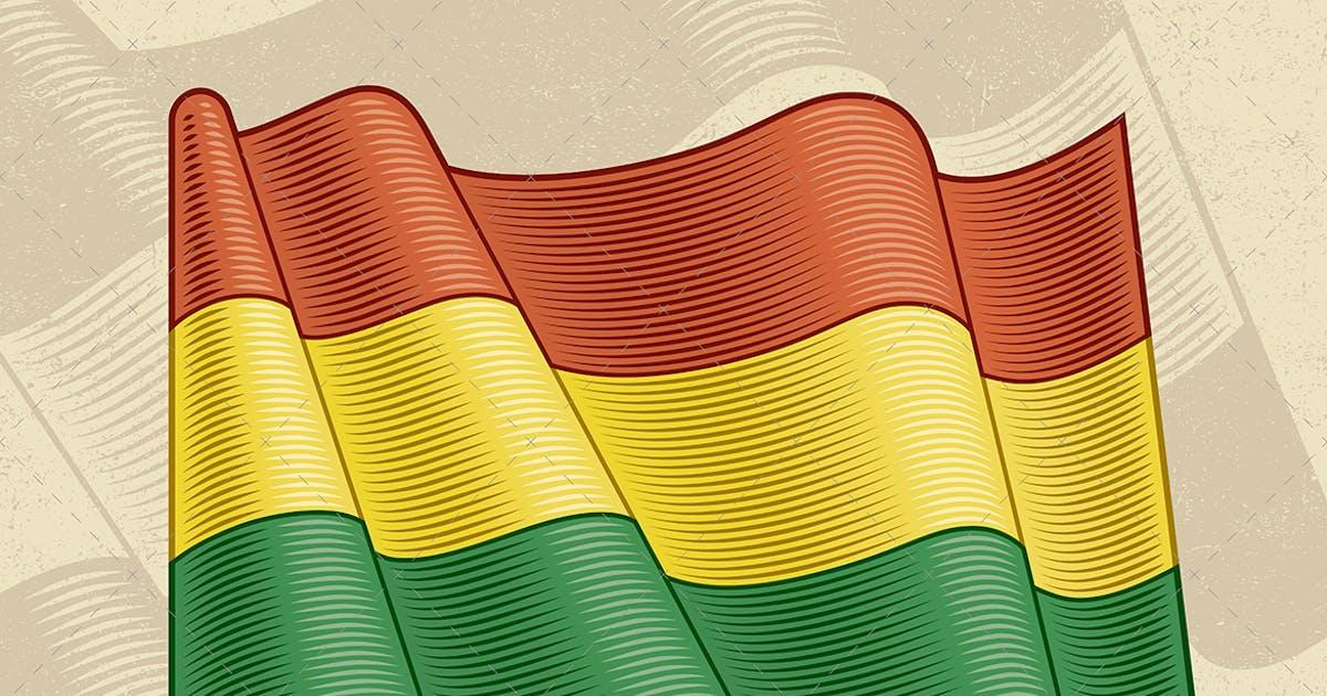 Download Vintage Flag Of Bolivia by iatsun